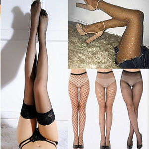Women-Lace-Sheer-Over-Knee-Thigh-Stockings-High-Socks-Pantyhose-Tights