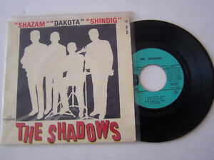 EP-4-TITRES-VINYLE-45-T-THE-SHADOWS-SHAZAM-VG-VG-COLOMBIA-1402