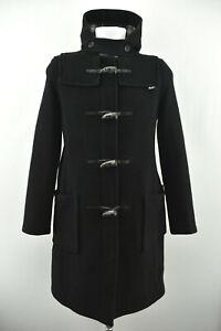 Gb Gloverall Eu Outdoor 34 Black Duffle Size Hooded Jacket Coat 38 Woolen Womens rqArPz
