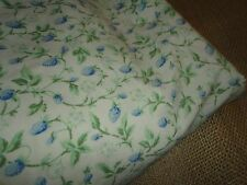 LAURA ASHLEY BRAMBLE GREEN VIOLET STRAWBERRIES FLORAL TWIN FITTED SHEET