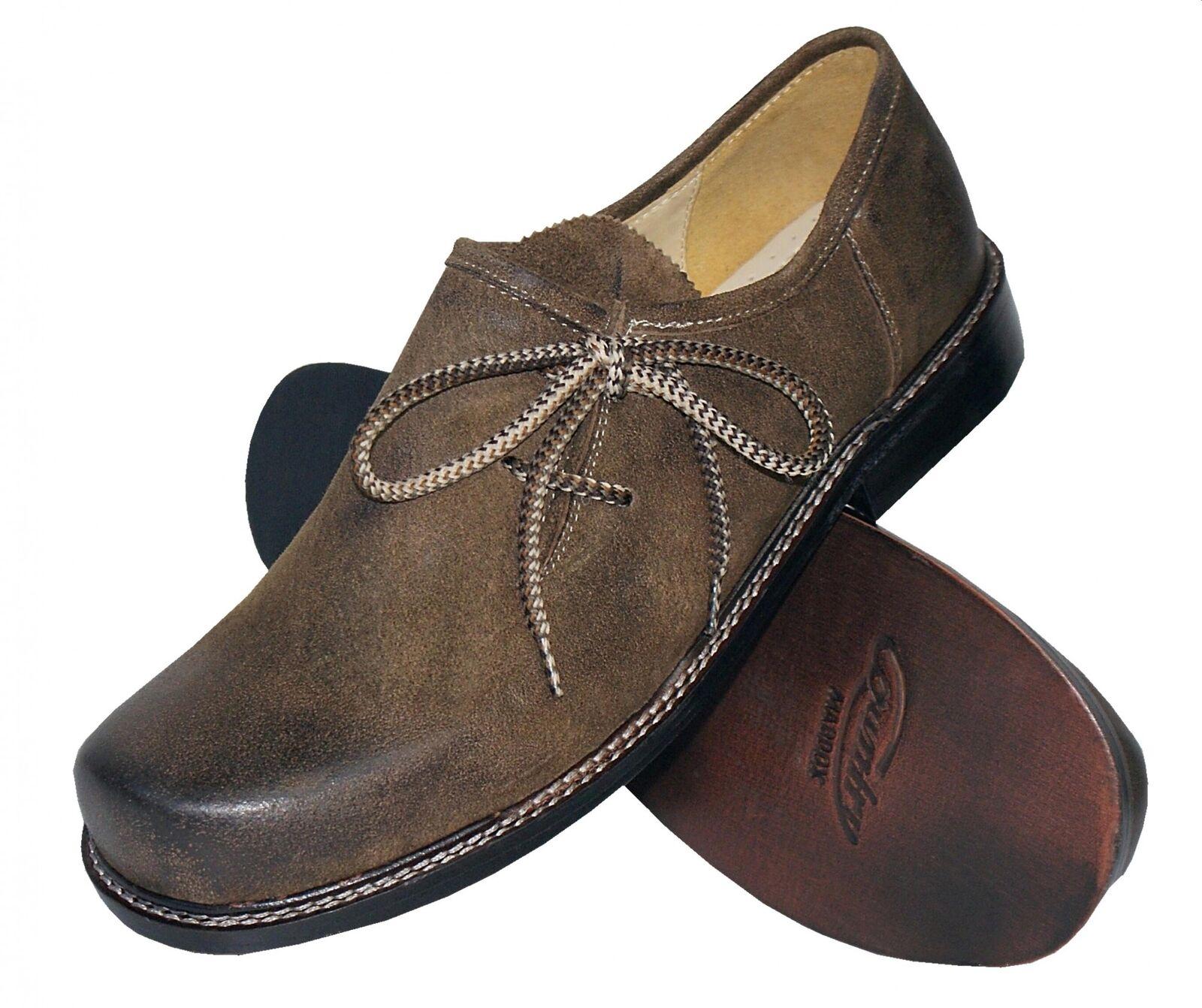 Trachtenschuhe Haferlschuhe Trachten-Schuhe Leder braun Ledersohle Tanzschuhe