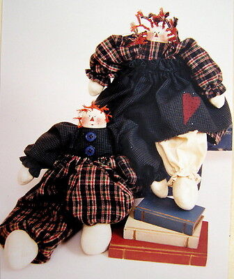 "PATTERN QUILT DOLL MAKING PRIMITIVE CLOTH RAG RAGGEDY ANN ANNIE & ANDY 12"" new"
