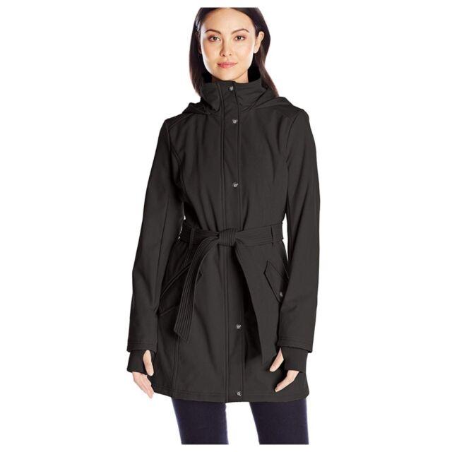 Jessica Simpson Women S Button Down Soft Shell Outerwear Jacket Black Sz Medium