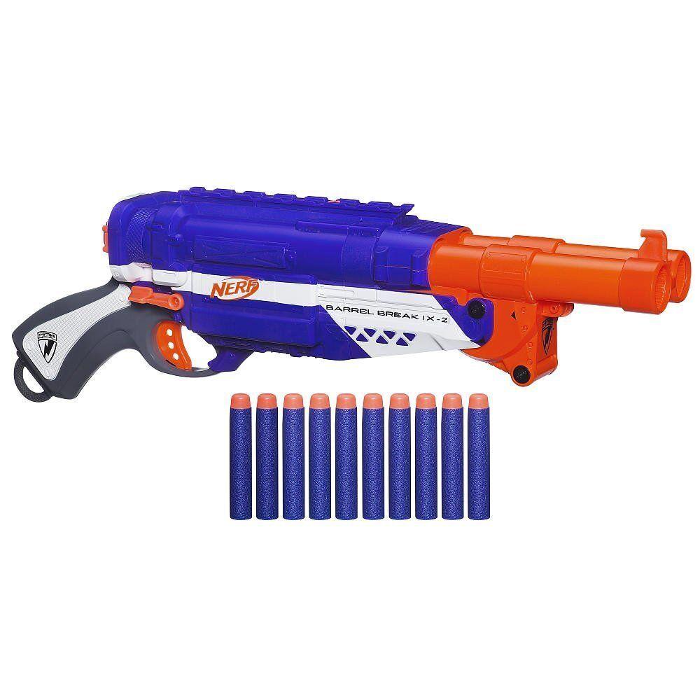 Marca nueva elite barril romper IX-2 Dardos Nerf Blaster Raro