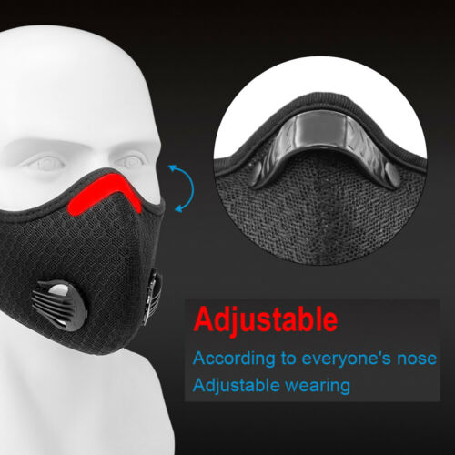 Activated Carbon Face Shield with Filter muffler scarf Dustproof Mouth-muffle