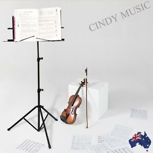 New-PRO-Folding-Adjustable-Music-Sheet-Stand-Holder-Black-Portable-Stand-In-Bag
