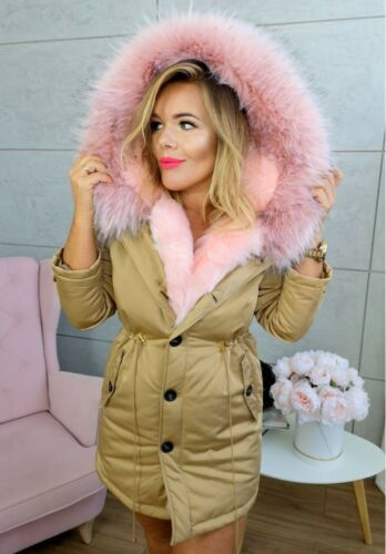 Gold Taglia Jacket K Pink Parka 36 Winter Ladies 19 Trim zell 2018 8 S xqwnCTqzIv