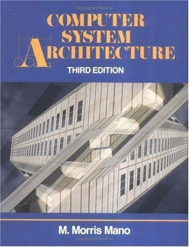 Computer System Architecture By M Morris Mano 1992 Trade Paperback For Sale Online Ebay