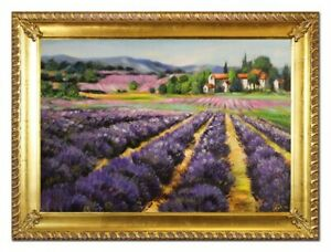 Oil-Painting-Pictures-Hand-Painted-Baroque-with-Frame-Art-G96523