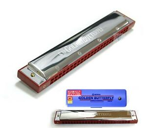 Mihwa Harmonica Golden Butterfly Tremolo 24 Holes Key of C