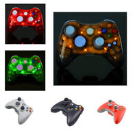 Glow Wireless Dual Shock Gamepads Game Controllers For Xbox 360/360 Slim/pc