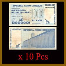 2008 Used Cir Zimbabwe 100 Billion Dollars Special Agro Cheque x 25 Pcs Bundle