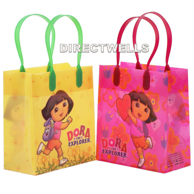 6 Pcs Dora The Explorer Licensed Small Party Favor Goo Loot Bags