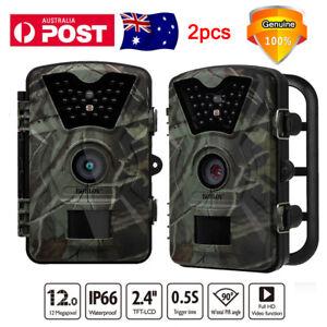 1080p HD 12mp Hunting Scout Trail Camera Night Game Wildlife Cam IR LED Ip66 AU