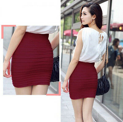 HOT SALE Women's Striped Sexy Mini Skirt Above knee Clubwear Short Wrapped Skirt