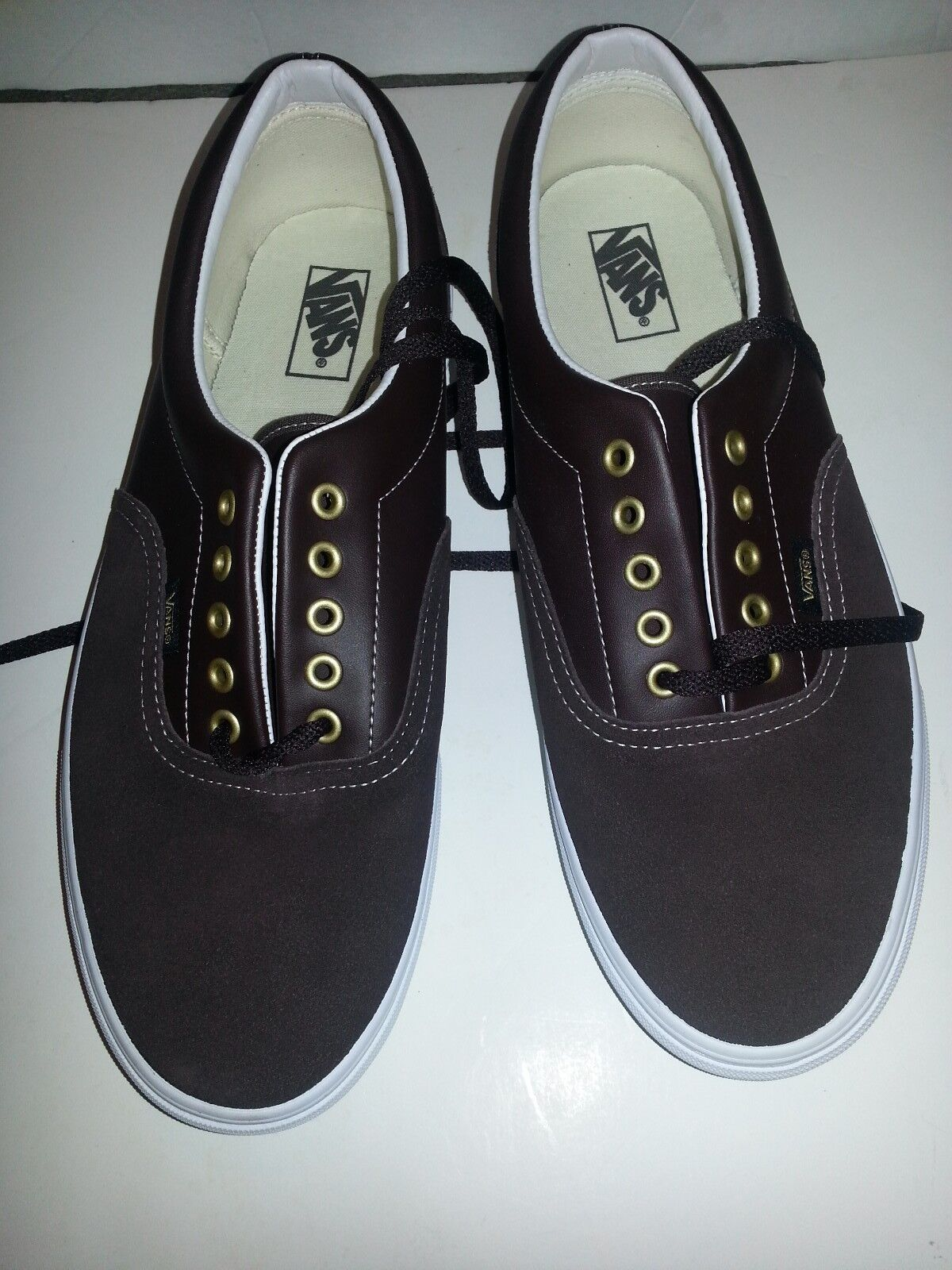 NEW Vans Suede Suede Suede Pelle Era VN-0EWZ47Q coffee bean brown Casual Shoes Uomo 5df06d