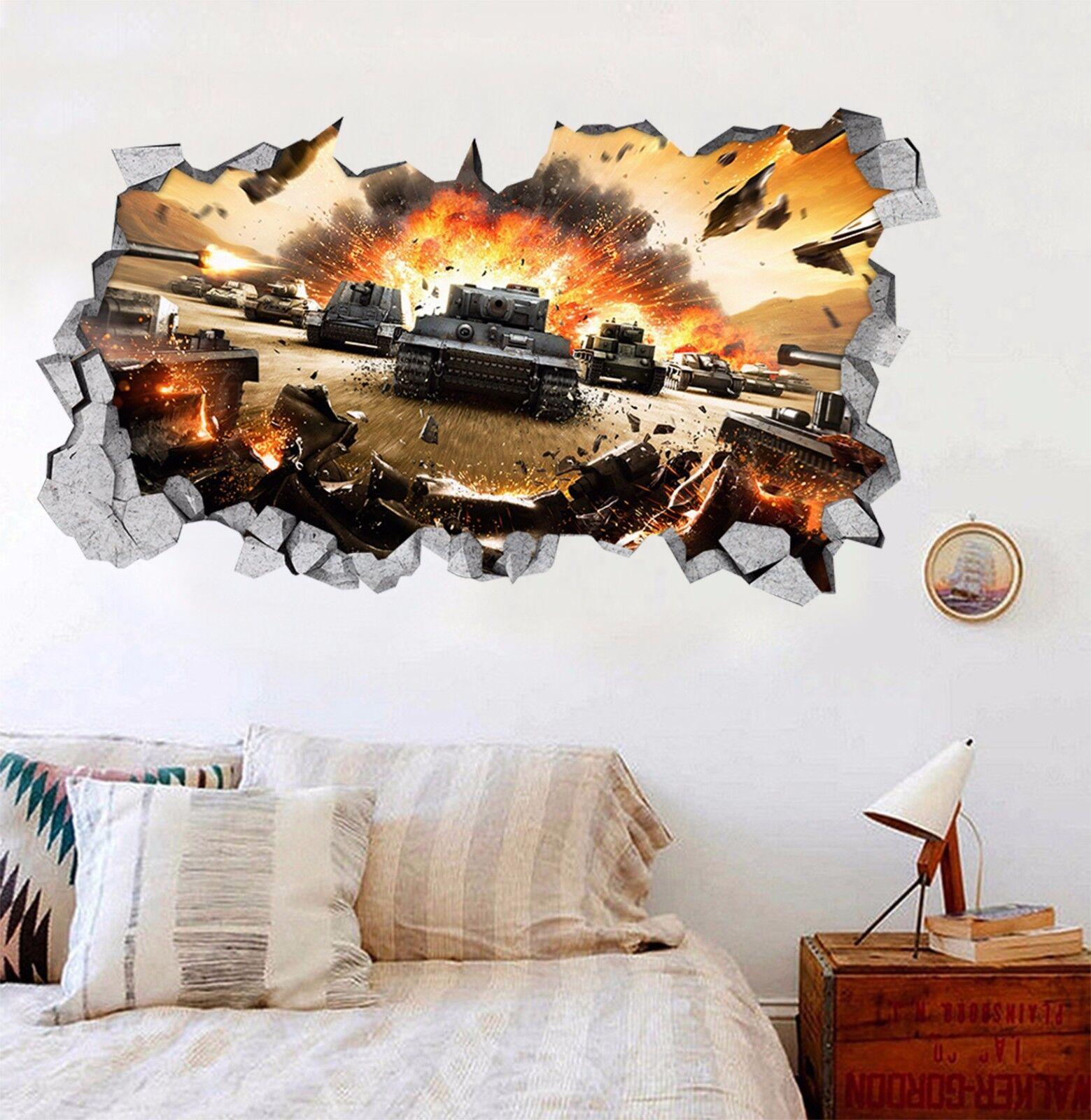 3D Krieg Rauch 829 Mauer Murals Mauer Aufklebe Decal Durchbruch AJ WALL DE Kyra