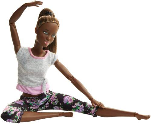 Barbie Bambola Snodata 22 Punti Snodabili per Tanti Movimenti Top Grigio//Viol...