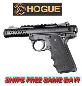 Hogue Ruger 22//45 MKIV Black Rubber Grip with Finger Grooves # 79080