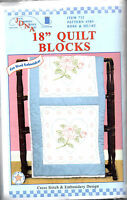 Roses Hearts 18 Quilt Blocks Embroidery Cross Stitch Stamped Usa Made Sewing