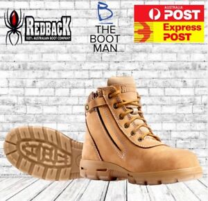 fd1133c3354 Details about Redback COBAR USCWSZ Wheat Zip Lace Up Steel Cap Safety Boot  FREE EXPRESS POST