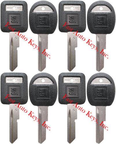 "/""C/"" DOORS//TRUNK Key Blanks Uncut 593719 594032 8 NEW GM Logo OEM /""D/"" IGNITION"