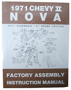 image is loading 1971-chevy-nova-chevy-ii-factory-assembly-manual-