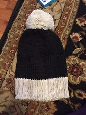 Keds Womens Metallic Coated Knit Pom Beanie Black One Size for sale ... 7057990e6089