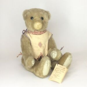 1987-Wendy-Brent-034-Taffy-034-Nutmeg-Mohair-Teddy-Bear-18-034-Artist-Signed-LE-24-50