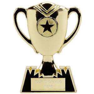 En Métal Doré Star Cup Trophy Gratuite Gravure Ap002g-afficher Le Titre D'origine
