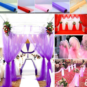 Image Is Loading 10m 33 Feet Table Chair Swags Sheer Organza