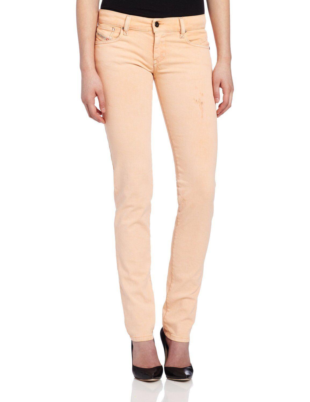 Diesel GETLEGG Skinny Leg Low Waist Slim Fit Jeans 0809S Peach 27x32 Nwt  198