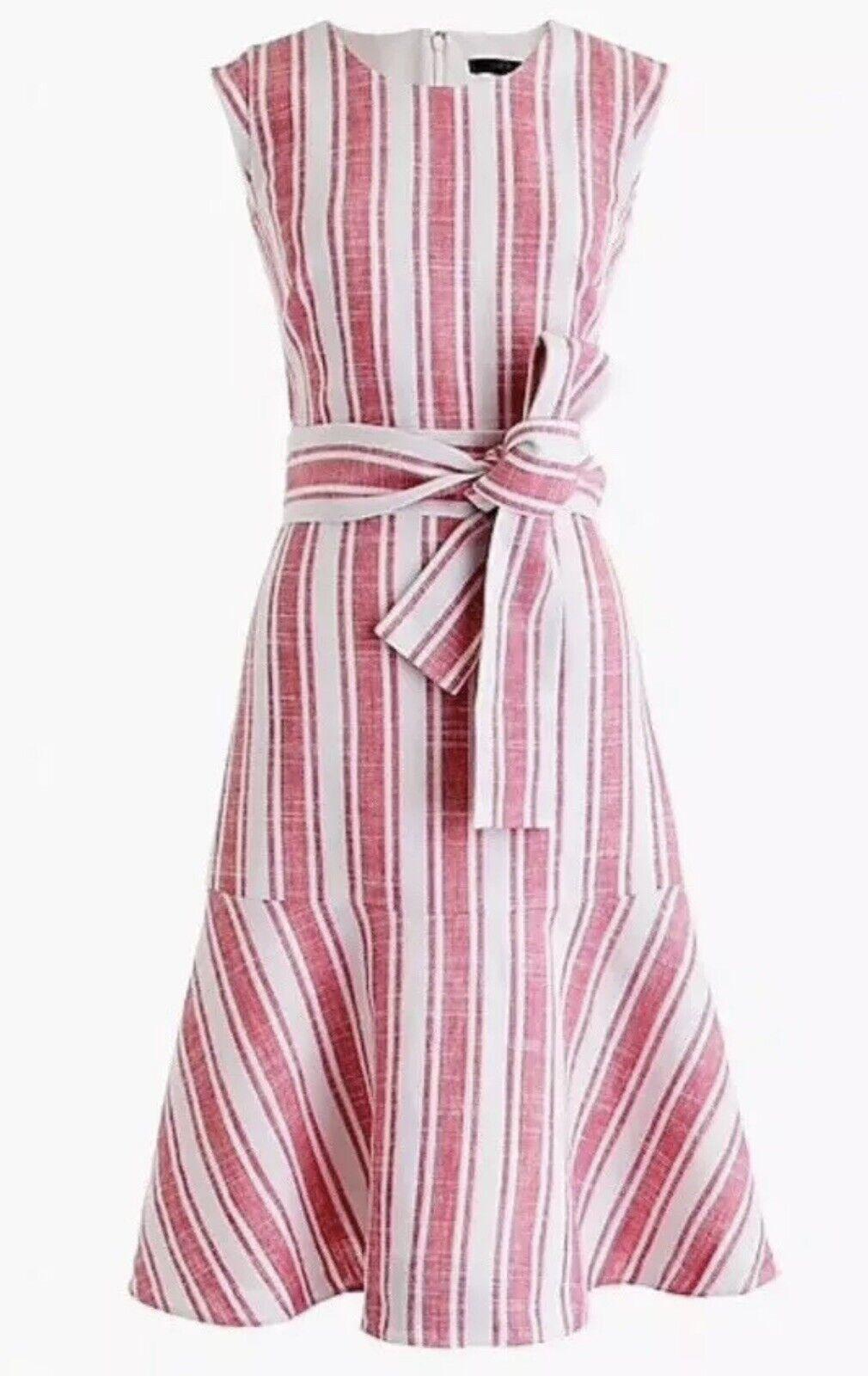 J. Crew ceinturée robe en lin, Rose