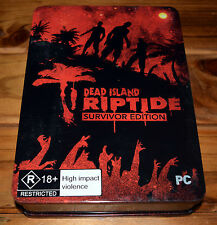 Dead Island Riptide Survivor Edition PC Game (Tin Box + Journal) Steam Key Used