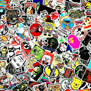 Stickers-200-Kids-Child-Fun-Skateboard-Laptop-Decals-Luggage-Dope-Sticker-Random