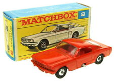 Matchbox MB8 regular wheels RARE Ford Mustang spun wheels and red interior