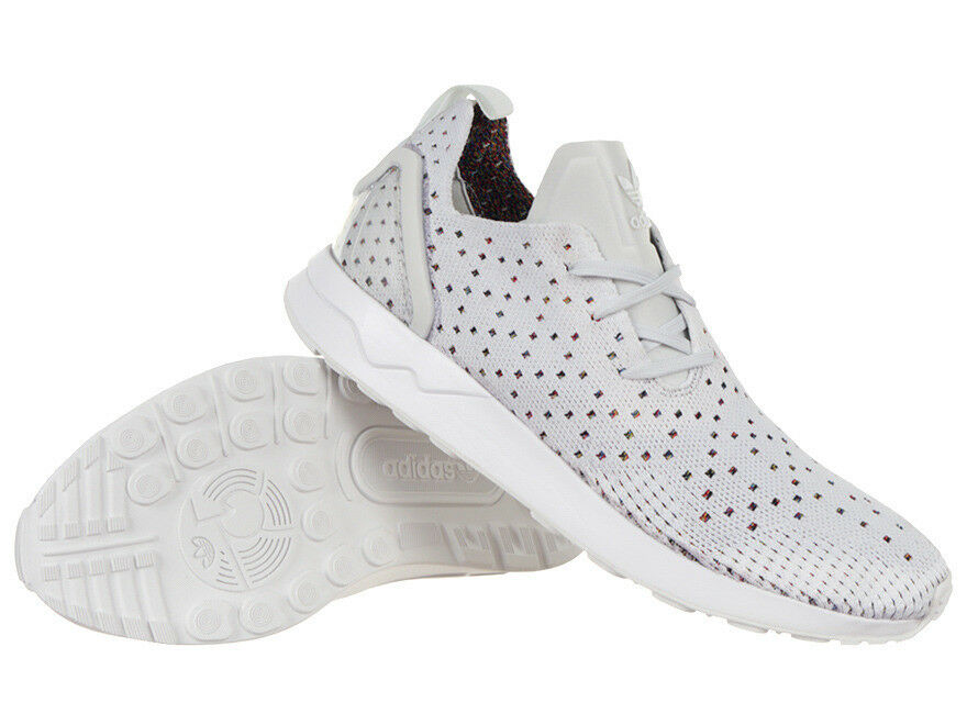 Adidas Originals Mens ZX Flux ADV Asymmetrical Primeknit shoes White