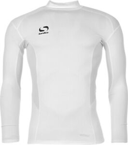 Sondico-Mens-Base-Mock-Neck-White-Training-Activewear-Sports-Top