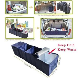 Foldable cartrunk organizer with cooler 7