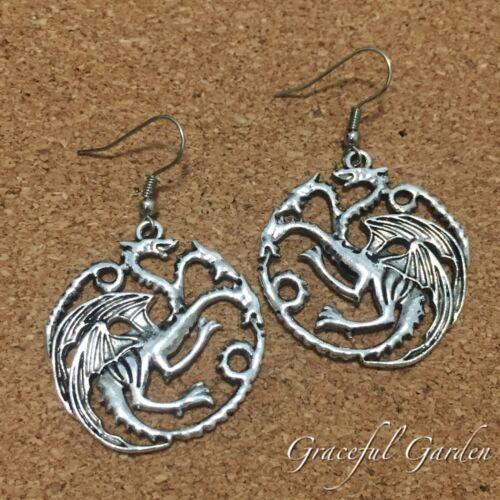 ER2882 Graceful Garden Vintage Style Game of Thrones Targaryen Dragon Earrings
