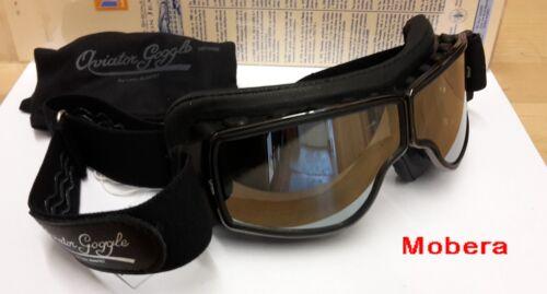 Motorradbrille AVIATOR T2 Brille Rahmen Gun Leder schwarz Gläser bitte wählen