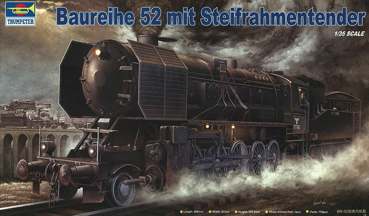 Trumpeter 00210 - 1 35 Kriegslokomotive Baureihe 52 (BR-52) mit Steifrahmentende  | Charmantes Design