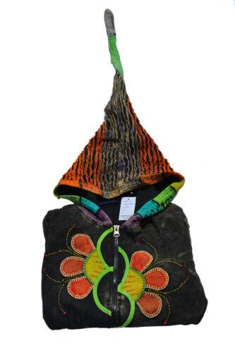 Donna Colorato Patchwork Stonewash Giacca zipfelkaputzenjacke in 2 dimensioni disponibili