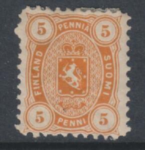 Finland - 1875/84, 5p Orange stamp - Perf 11 - m/m - SG 67 or 68