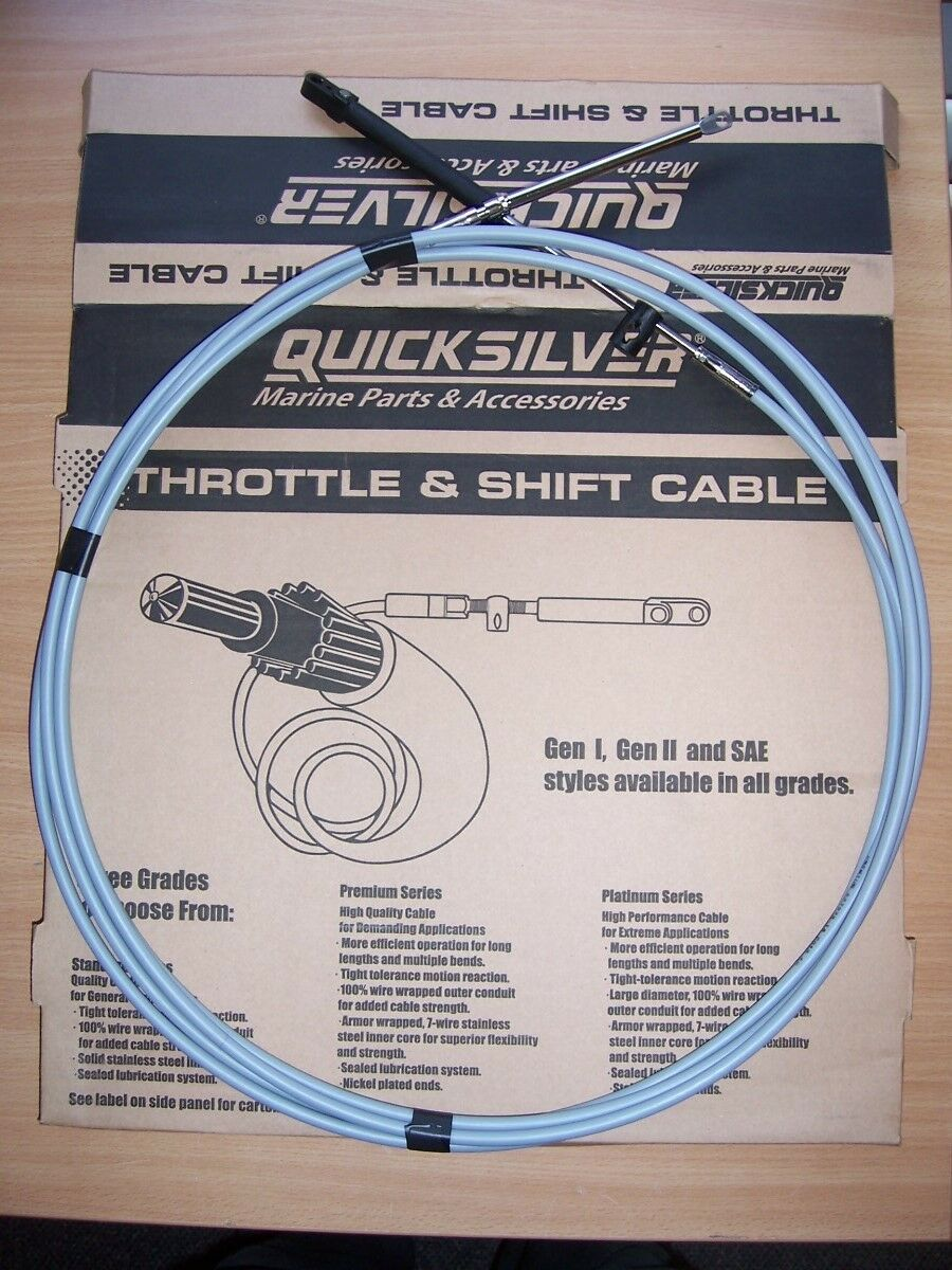 ORIGINAL Mercury Mariner Outboard Control Cable Gear Shift Thredtle Gen2 Premium