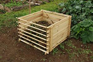 Holz Komposter Mit Stecksystem Abnehmbaren Holzlatten Garten Kompost