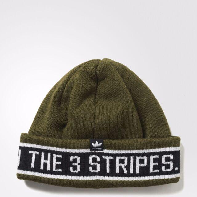 eb124ff5 ... netherlands new mens adidas originals rib logo 3 stripes taping chunky beanie  hat os ay9079 8c142