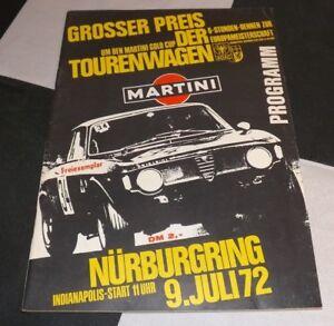 ORIGINAL-1972-NURBURGRING-6-HOURS-RENNEN-PROGRAMME-BMW-2800-FITZPATRICK-CAPRI-RS