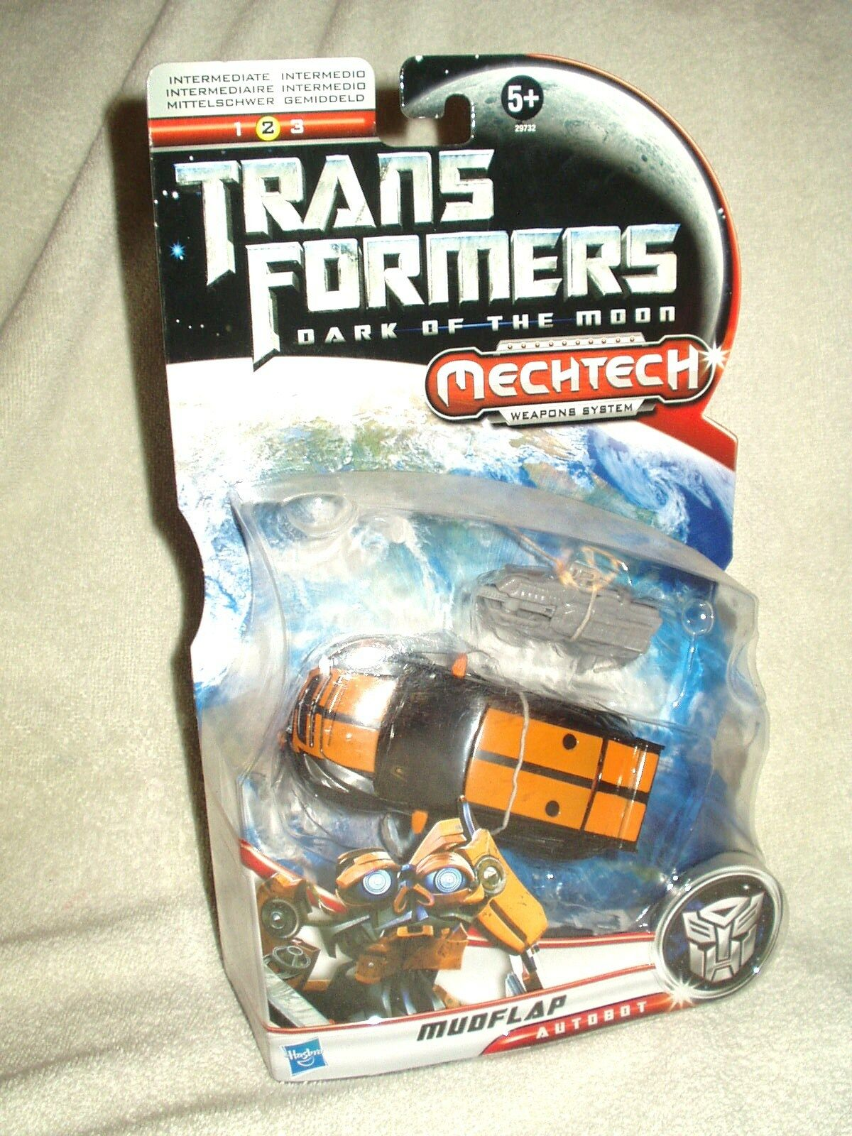 Transformers Action Figure DOTM Movie Deluxe Mudflap 6 inch