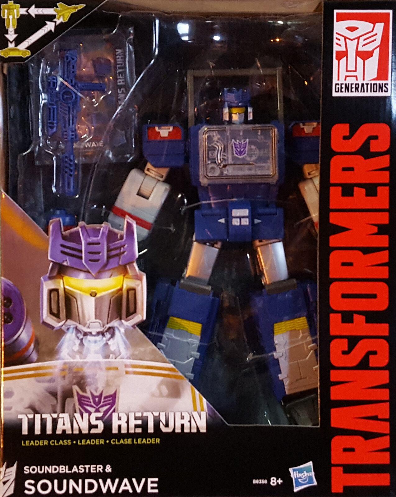 HASBRO® B8358 Transformers Generations Leader Class Soundwave & Soundblaster